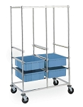 Metro® PT2C-5M - Double Bay Kitting Cart Resilient Rubber Casters